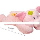 Свинка мягк., 79см, лежащая, розовая