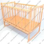 Детская деревянная кроватка с качалкой №2