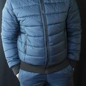 Стильный, теплый зимний мужской костюм