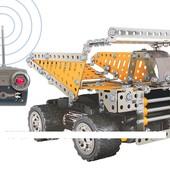 Конструктор металл., 248дет, грузовик (21*13*14см), р/у, 4кан. (24шт/ящ) в кор.40*27*9см – фото Кон
