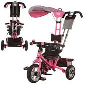 надувные колеса!Детский велосипед turbo trike М 5378, надувные резиновые колё