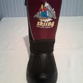 Незаменимая обувь сапоги-дутыши, сноубутсы для морозов и слякоти в наличии Р-ры 28-37