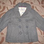 Пальто (куртка) Debenhams на 1 - 1.5 р. ріст 80 - 86 см. шерсть