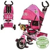 Велосипед Маша и медведь трехколесный колеса пена MM 0156 детский