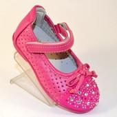 Туфли для девочки липучка A-2508