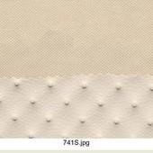 Универсальная коляска 2 в 1 Adamex Barletta Ecco кожа 741S, бежевый (точки)