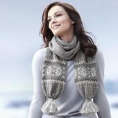 Теплый серый шарф  от TCM Tchibo, Германия