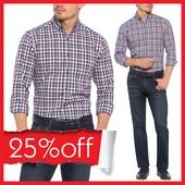 в сине-бело-красные полоски мужская рубашка LC Waikiki