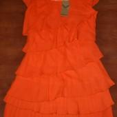 Платье женское S-ка оранжевое.