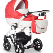 Универсальная коляска Bebe-Mobile Toscana 910G, красный с белым