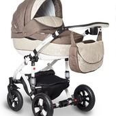 Универсальная коляска Bebe-Mobile Toscana 239W, молочный (узор) - бежевый