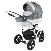 Универсальная коляска Bebe-Mobile Toscana 227W, серый с пепельным (цветики)