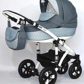 Универсальная коляска Bebe-Mobile Toscana 263W, темно-синий/синие (маки)
