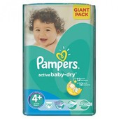 Подгузники Pampers Active Baby Giant Pack 4,4+