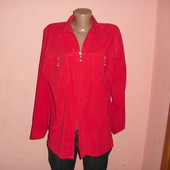 красный пиджак,сост нового р-р L- XL