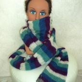 Вязанный шарф длина 180 см
