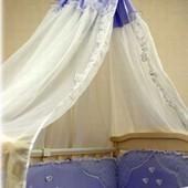 Распродажа - Полный Постельный комплект  Эксклюзив цвет голубой  от Ассоль (Беларусь)