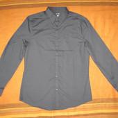Новая H&M (разм. L) рубашка мужская черная