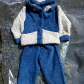 Махровый костюм на 12-18мес.