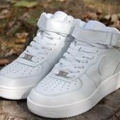 Кроссовки женские Nike Air Force 1 высокие размер 36,37,38,39,40,41
