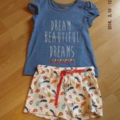 Пижама на девочку 1-1, 5, 2-3 года, Marks&Spenser.