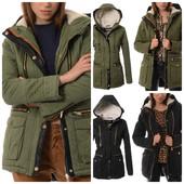 эффектная зимняя женская куртка парка