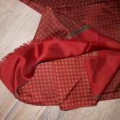 Италия, Широкий мужской шарф Бордо 120*55 см
