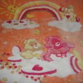 Детское махровое одеяло-плед 120х100см