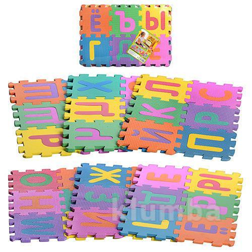 Развивающий коврик-мозаика bambi m 0378 алфавит фото №1