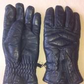 Кожаные утепленные  перчатки р.M