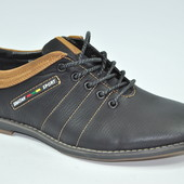 туфли полуспорт мужские кожаные осенние