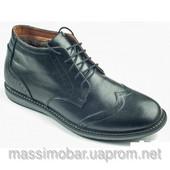 мужские зимние ботинки натуральная кожа замша Код: 339