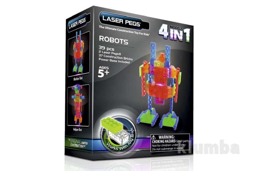 Светящийся конструктор роботы 4 в 1  laser pegs фото №1