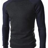 Стильный свитер - свитшот black/blue. Производства Украина