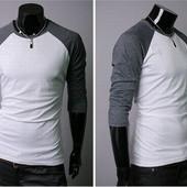 Стильная футболка с рукавом реглант. Производства Украина