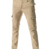 Стильные брюки с накладными карманами Slim Fit. Производства Украина