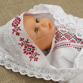 Конверт для новорожденного. Ручная вышивка