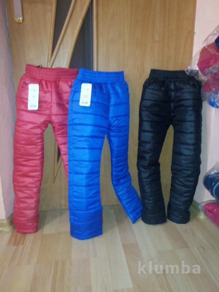Зимние  штаны на синтепоне р 110,116,122,128,134,140 фото №1