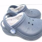 Оригинальные теплые кроксы Crocs  р.6-7 стелька р.14 см