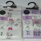 Трусики и маечки для наших маленьких модниц от F&F(Tesco), Англия!!!