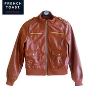 Куртка пилот терракотовая из PU-кожи на 10 лет, French Toast Америка