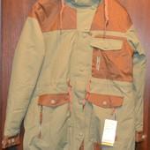Длинная куртка, пальто термо, мембрана, лыжная C&A Германия  р. S