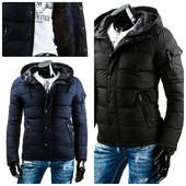 мужская синяя зимняя куртка