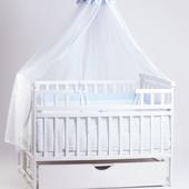 Детский Сон кроватка на маятнике белая