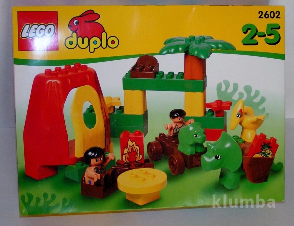 2602 lego duplo дино семья первобытных. фото №1