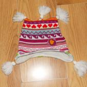 Акция!Демисезонная фирменная шапка для девочки 2-3 года, 48-50 см