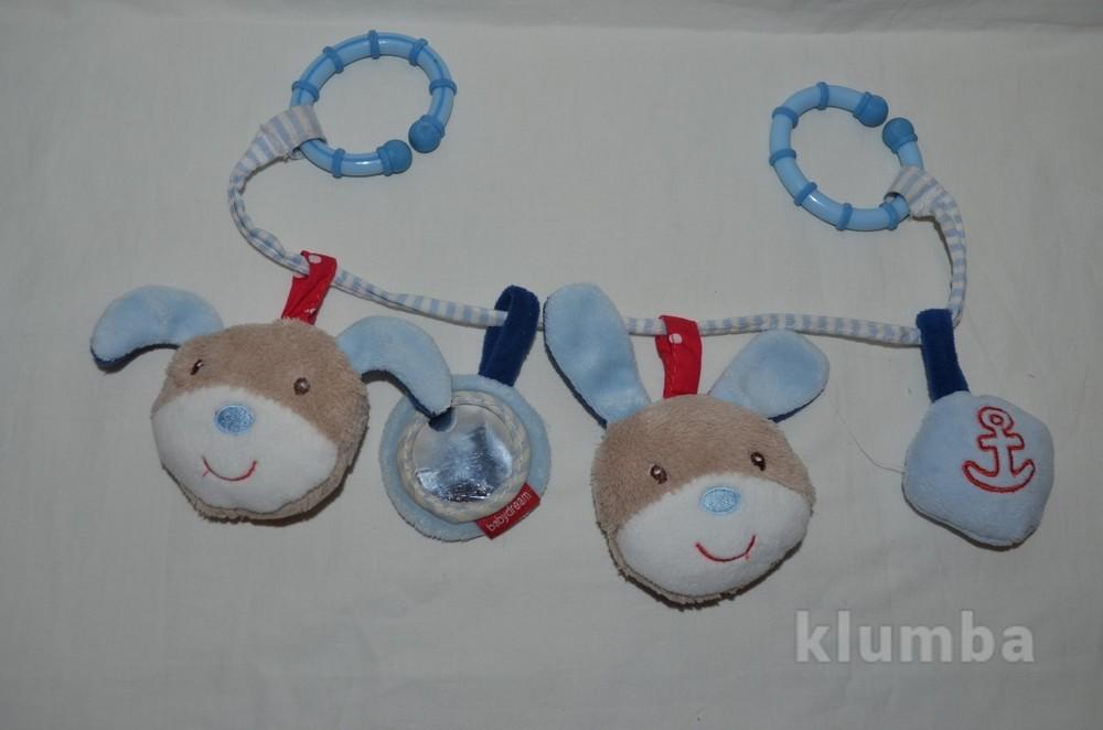 Фирменная игрушка растяжка на коляску и кроватку мишки зайчики яркая и весёлая необычная фото №1