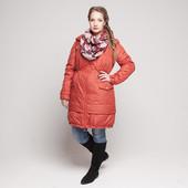 Зимнее пальто для беременных и слингоношения— Терракот и Неви