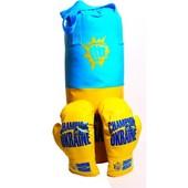 Боксерская груша d12x43 см детская + перчатки 8 oz