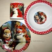 Детские наборы посуды с любимыми героями мультфильмов, ч.2